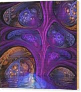 Mystical Caves Of Halyon Wood Print