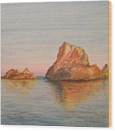 Mystical Island Es Vedra Wood Print