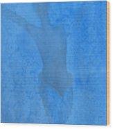 Mystical Merman In Blue Wood Print