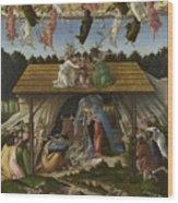 Mystical Nativity Wood Print