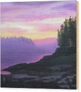 Mystical Sunset Wood Print by Sharon E Allen