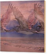 Mystical Trio Wood Print
