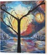 Mystical Twilight Forest Wood Print