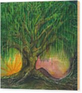 Mystical Willow Wood Print