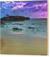 Mythical Ocean Sunset  Wood Print