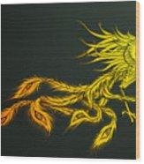 Myths Ablaze Wood Print