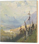 An Autumn Day, Mt Mckinley  Wood Print