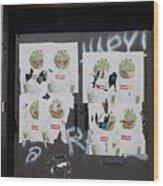 N Y C Kermit Wood Print