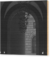 N Y C Lighted Arch Wood Print