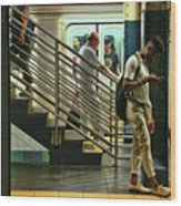 N Y C Subway Scene # 9 Wood Print