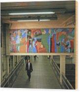 N Y C Subway Scenes # 45 Wood Print