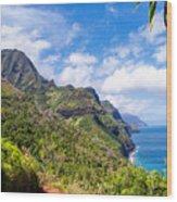 Na Pali Coast Kauai Wood Print