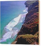 Na Pali Coast Trail Wood Print