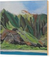 Na Pali Cruise Wood Print