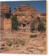 Nabatean's Village Wood Print