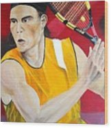 Nadal Wood Print by Flavia Lundgren