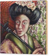 Nadeshiko Wood Print