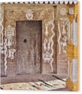 Nag Temple Doorway - Huri India Wood Print