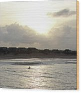 Nags Head Nc Surf Wood Print