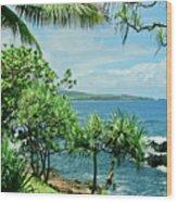 Nahiku Kaelua Hanawi Honolulunui Maui Hawaii Wood Print