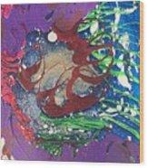 Nail Polish Abstract 15-s11 Wood Print