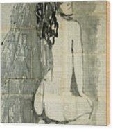 Naked Figure.  Wood Print