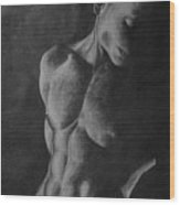 Naked Man Wood Print