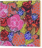 Nala's Flowers Wood Print