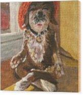 Namaste Dog Wood Print