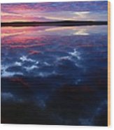 Namekus Lake Sunrise Wood Print
