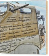 Names On B-17 Wood Print