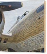Names Pilots B-17 Wood Print