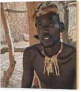 Namibia Tribe 2 - Chief Wood Print