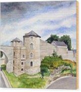 Namur, Citadelle Et Pont Des Hollandais Wood Print