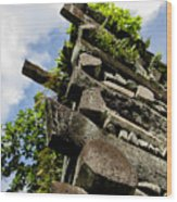 Nan Madol Wall Wood Print