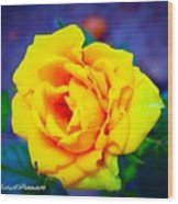 Nana's Yellow Rose Wood Print
