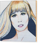 Nancy No Nose Wood Print