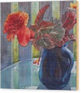 Nancy's Begonias Wood Print