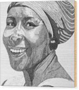 Nanna Smiles Wood Print