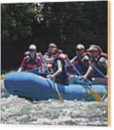 Nantahala River Rafting Wood Print