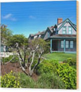 Nantucket Architecture Series 08 Y1 Wood Print