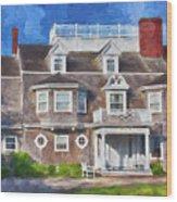 Nantucket Architecture Series 28 Wood Print