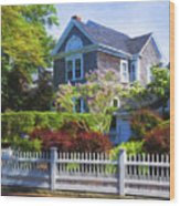 Nantucket Architecture Series 7 - Y1 Wood Print