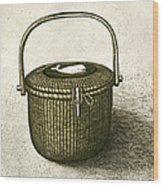Nantucket Basket Wood Print