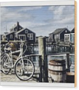 Nantucket Bikes 1 Wood Print by Tammy Wetzel