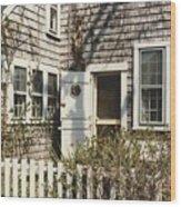Nantucket Cottage Wood Print