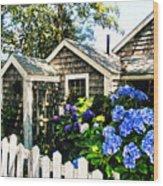 Nantucket Cottage No.1 Wood Print