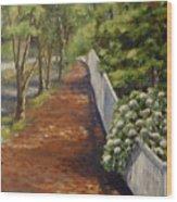 Nantucket Fence Number Three Wood Print