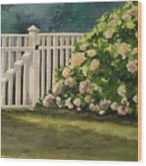 Nantucket Fence Number Two Wood Print