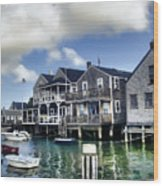 Nantucket Harbor In Summer Wood Print